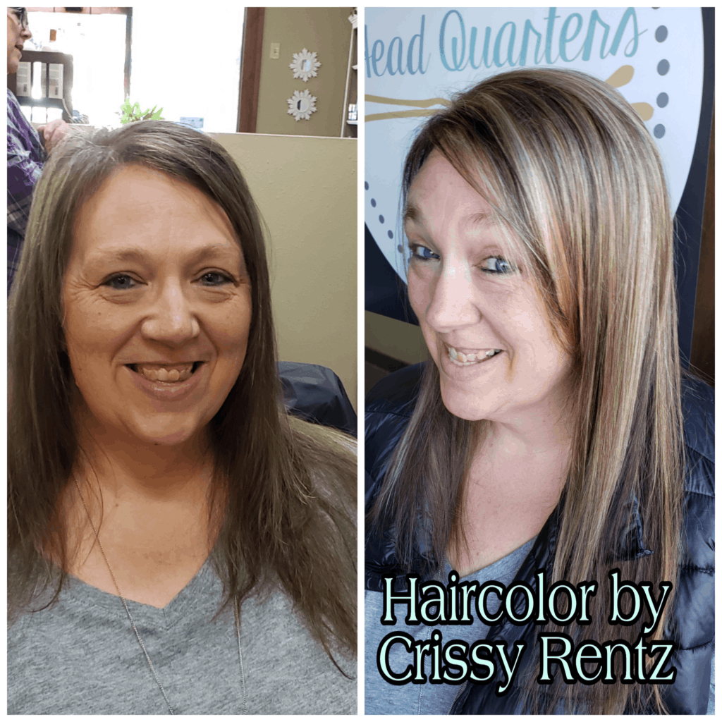 Hair colored by Crissy