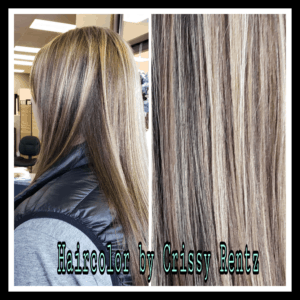 Photo of Ladies long hair colored